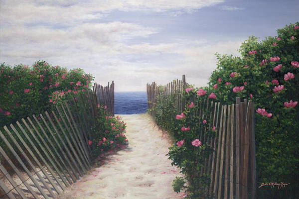 Dunes Painting - Another Path To Paradise - Cape Cod by Julia O'Malley-Keyes