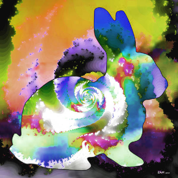 Psychedelia Digital Art - Another Rabbit Hole For Alice by Elizabeth McTaggart