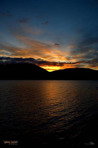 Photograph - Another Spring Sunset Portrait - Skaha Lake 4/26/2014 by Guy Hoffman