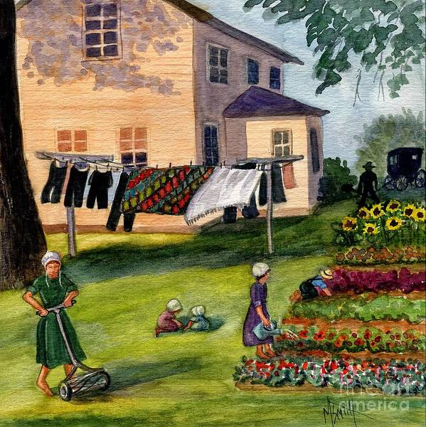 Clothesline Painting - Another Way Of Life II by Marilyn Smith