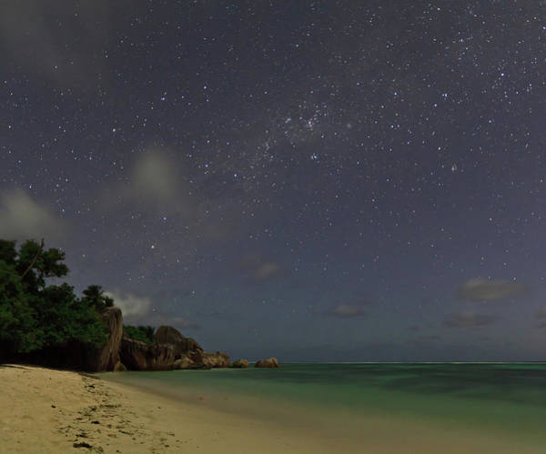 Collin Photograph - Anse Source Dargent Under A Starry Sky by © Frédéric Collin