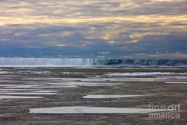 Antarctica Ross Ice Shelf Edge  Art Print