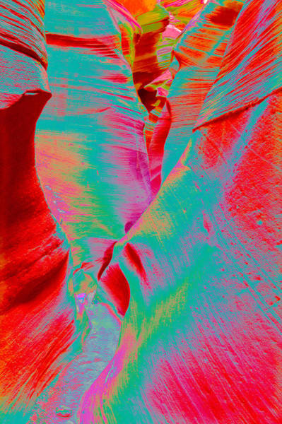 Photograph - Antelope Canyon Abstract by Mae Wertz