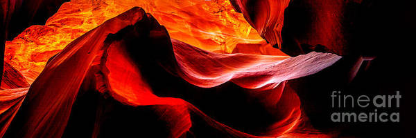 Beam Of Light Photograph - Antelope Canyon Rock Wave by Az Jackson
