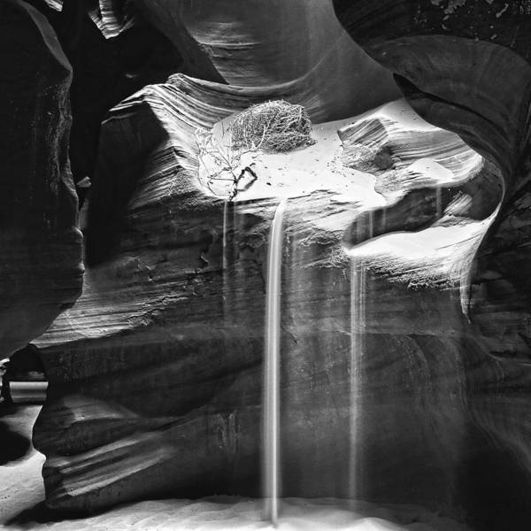 Photograph - Antelope Canyon Sand Fall by Wes and Dotty Weber