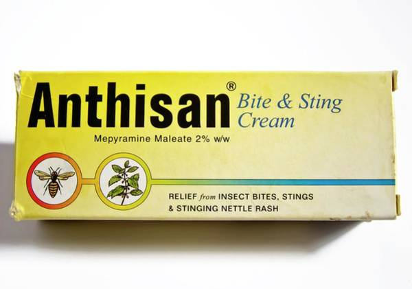 Branding Photograph - Anthisan Bite-and-sting Cream. by Ian Gowland/science Photo Library