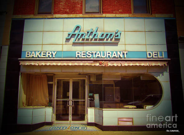 60s Wall Art - Digital Art - Anthon's Bakery Pittsburgh by Jim Zahniser
