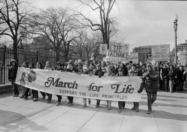Wall Art - Photograph - Anti-abortion Protest, 1979 by Granger
