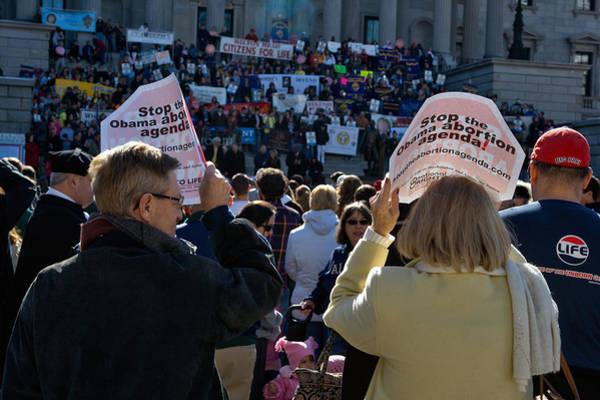 Gop Photograph - Anti Abortion Rally by Joseph C Hinson