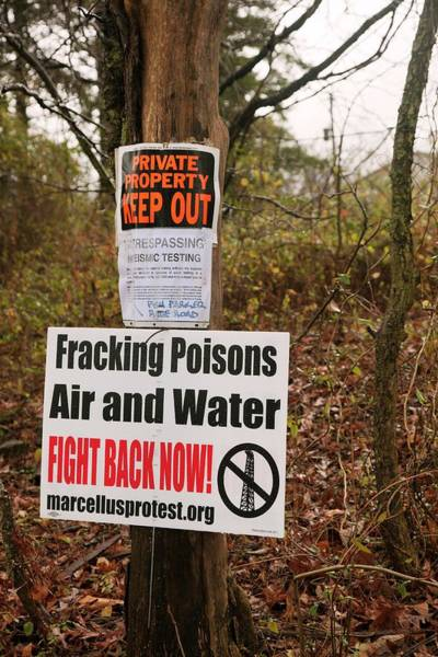Notice Photograph - Anti-fracking Sign by Jim West
