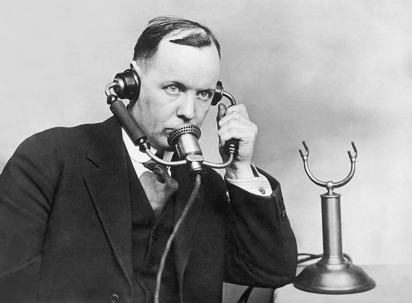 Photograph - Anti Noise Telephone by Underwood Archives