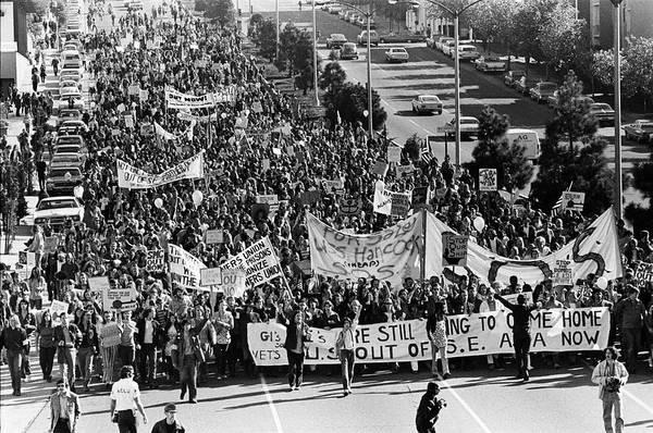 Demonstrating Wall Art - Photograph - Anti Vietnam War Demonstration by Underwood Archives Adler