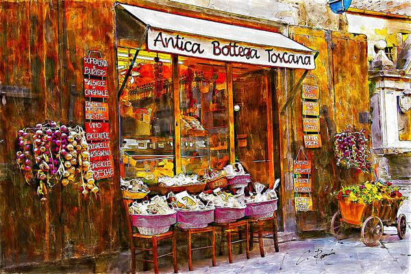 Digital Art - Antica Bottega Toscana by Charlie Roman