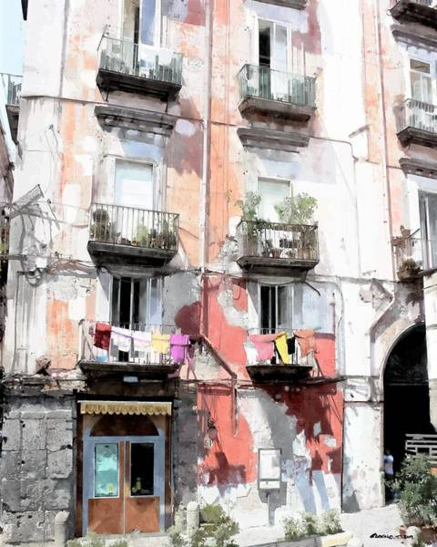 Digital Art - Antica Pizzeria I Decumani - Naples by Gabriel T Toro