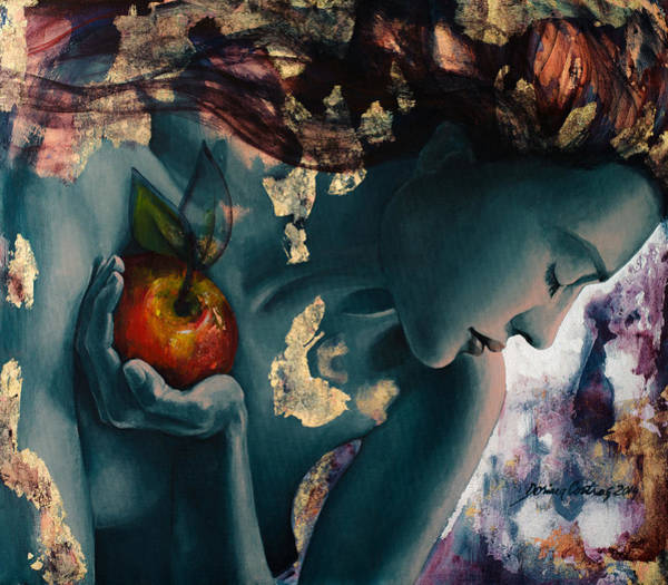 Eve Painting - Anticipation by Dorina  Costras