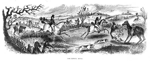 Epping Wall Art - Drawing - Antics Of The Epping Hunt          Date by  Illustrated London News Ltd/Mar