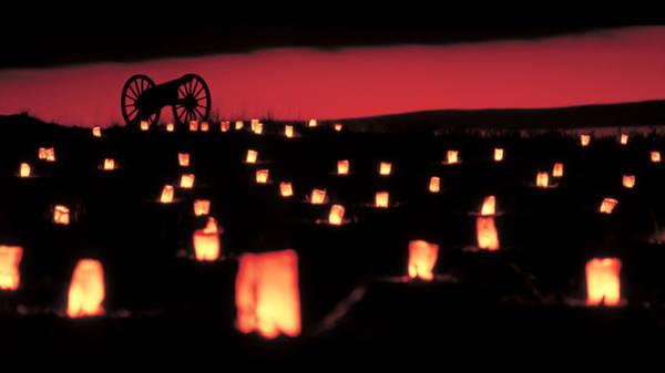 Luminaries Photograph - Antietam National Battlefield  by Geoffrey Baker