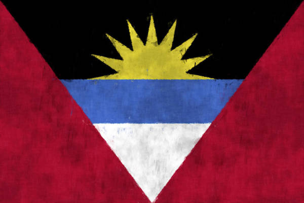 Wall Art - Digital Art - Antigua And Barbuda Flag by World Art Prints And Designs