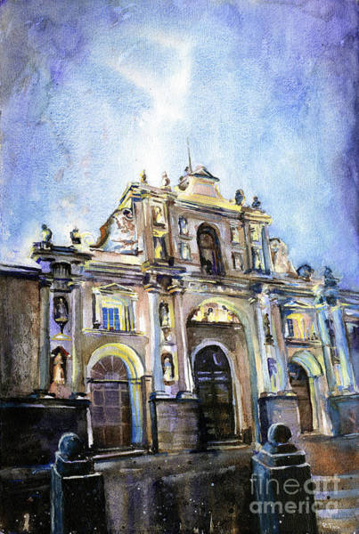 World Heritage Site Painting - Antigua Church by Ryan Fox