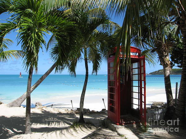Antigua - Phone Booth Art Print
