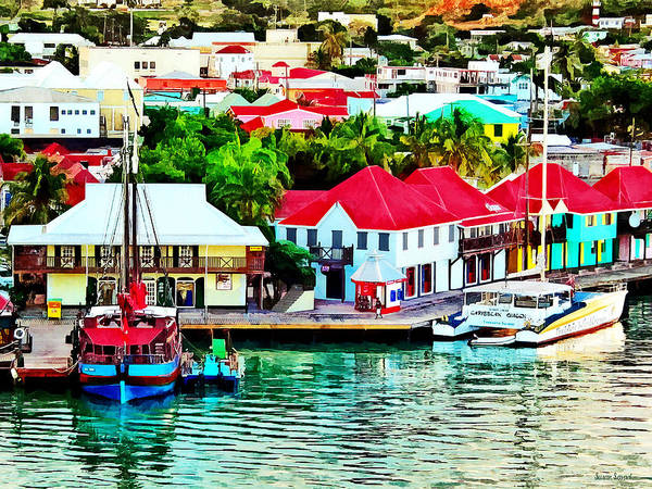 Photograph - Antigua - St. Johns Harbor Early Morning by Susan Savad