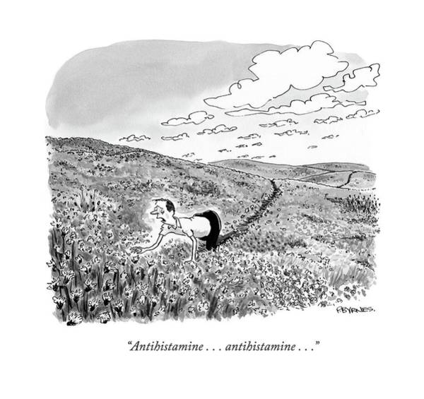 Medicine Drawing - Antihistamine . . . Antihistamine . . .  by Pat Byrnes