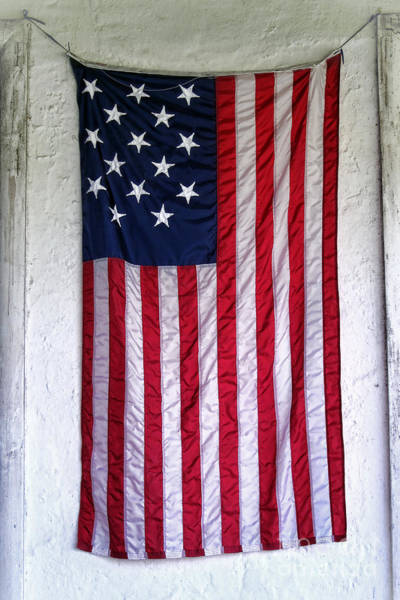 Old Glory Wall Art - Photograph - Antique American Flag by Olivier Le Queinec