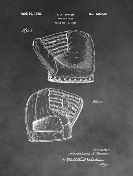 Babe Drawing - Antique Baseball Mitt by Dan Sproul