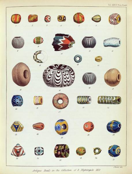 1851 Photograph - Antique Beads by Middle Temple Library
