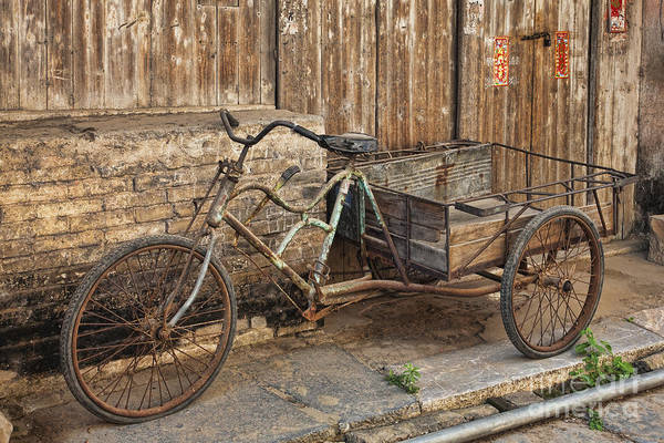 Wall Art - Photograph - Antique Bicycle In The Town Of Daxu by David Davis