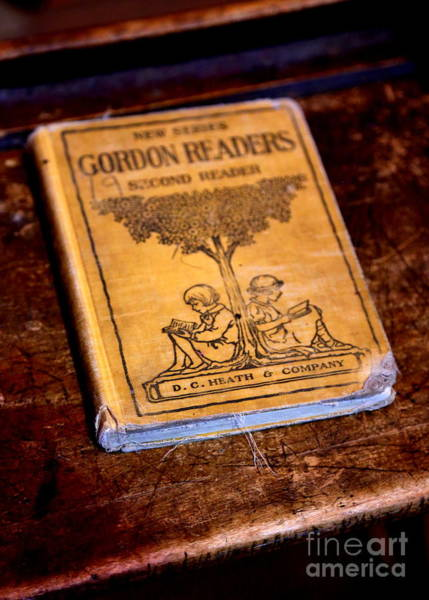 Photograph - Antique Book On Desk by Carol Groenen