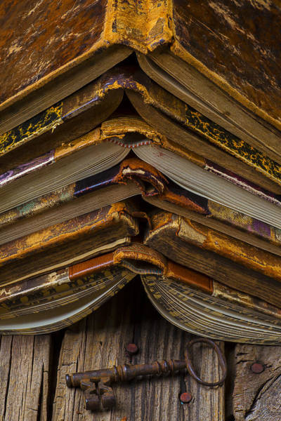 Skeleton Key Photograph - Antique Books by Garry Gay