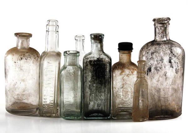 Dingy Digital Art - Antique Bottles by Richard Ortolano