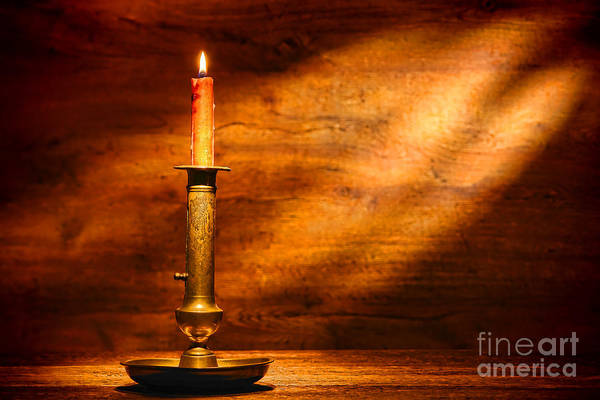 Photograph - Antique Candlestick by Olivier Le Queinec