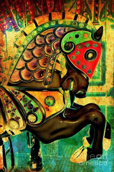 Carousel Digital Art - Antique Carousel Horse by Patty Vicknair