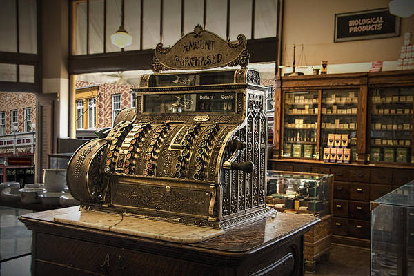Photograph - Antique Cash Register by Randall Nyhof