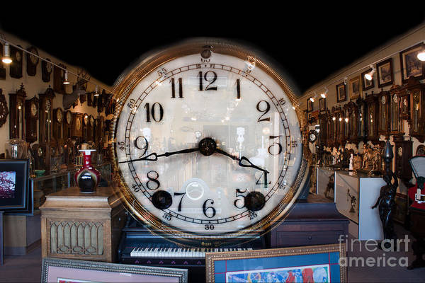 Photograph - Antique Clock Store by Gunter Nezhoda
