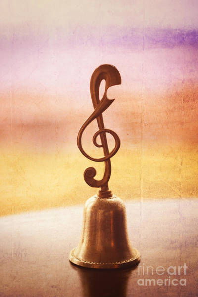 Photograph - Antique Copper Handbell With G-clef Handle by Beverly Claire Kaiya