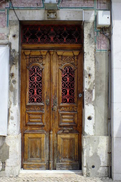 Photograph - Antique Door In Lisbon by Phil Darby