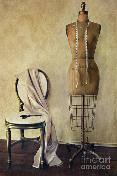 Dress Form Photograph - Antique Dress Form And Chair With Vintage Feeling by Sandra Cunningham
