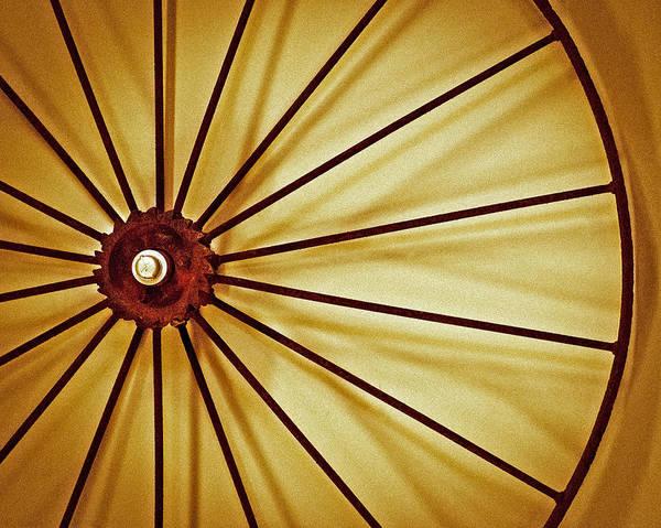 Photograph - Antique Farm Wheel by Carolyn Marshall