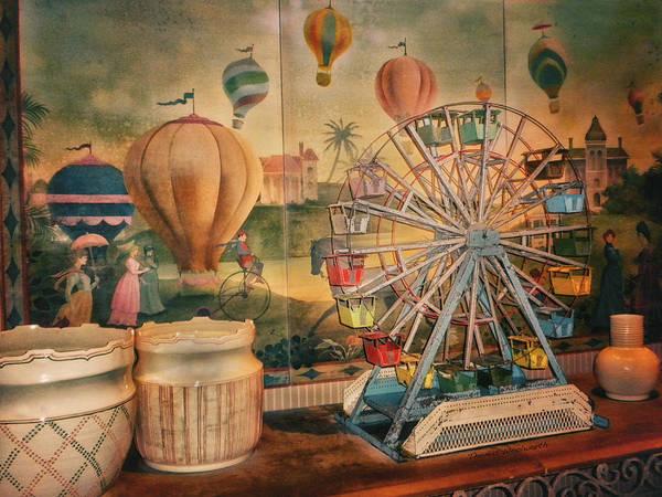 Wall Art - Photograph - Antique Ferris Wheel Walt Disney World by Thomas Woolworth