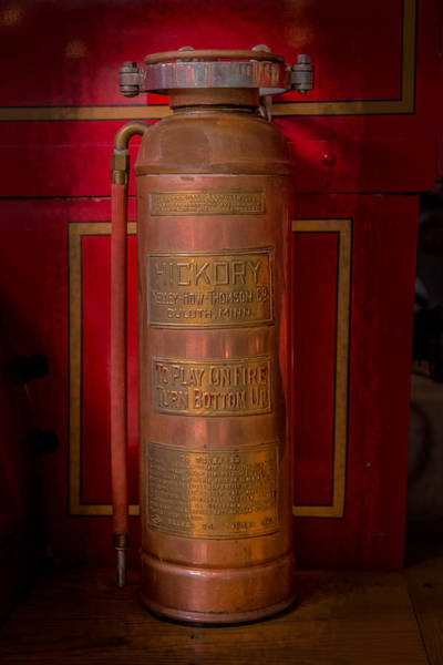 Flammable Wall Art - Photograph - Antique Fire Extinguisher by Paul Freidlund
