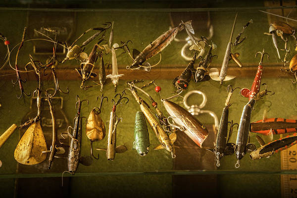 Angler Art Photograph - Antique Fishing Lures by Randall Nyhof