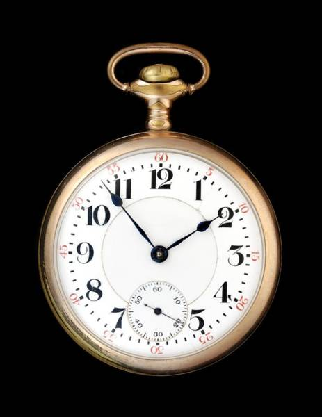 Photograph - Antique Gold Pocketwatch by Jim Hughes