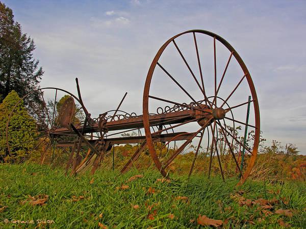 Photograph - Antique Hay Rake by Grace Dillon