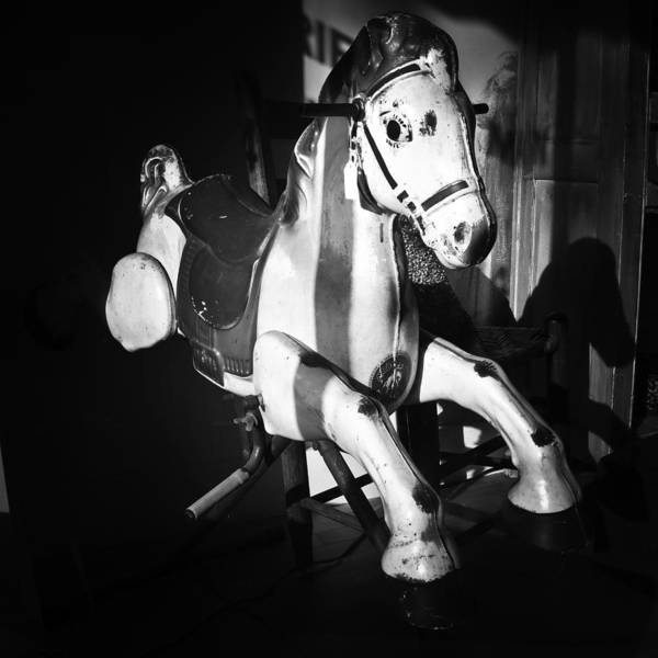 Photograph - Antique Horse Bw by Patrick M Lynch