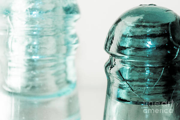 Glass Insulator Photograph - Antique Insulators by Colleen Kammerer