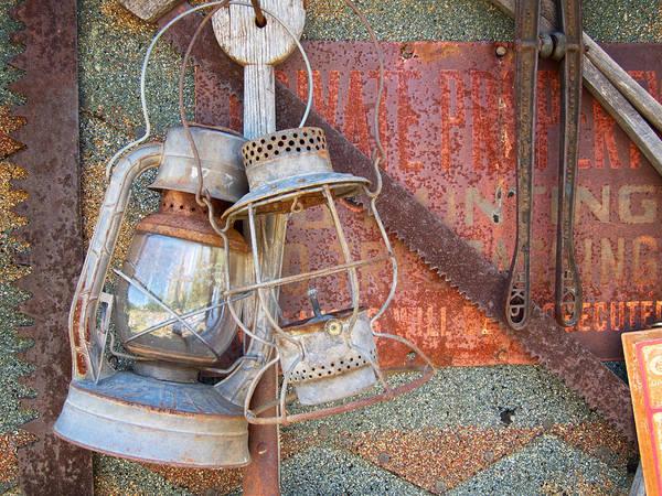 Photograph - Antique Kerosene Lamps by Mary Lee Dereske