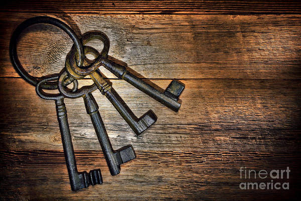 Photograph - Antique Keys by Olivier Le Queinec